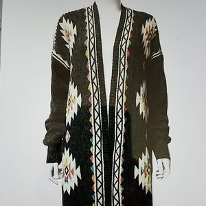 Sweaters - LaST 1! Tribal boho Tribal knit cardi One size
